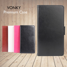 For Homtom HT 20 Pro Case VONKY Book Leather Flip Cover Case for Homtom HT 20 ht20 Smartphone Wallet Bags 4.7 Inch Stand Celular