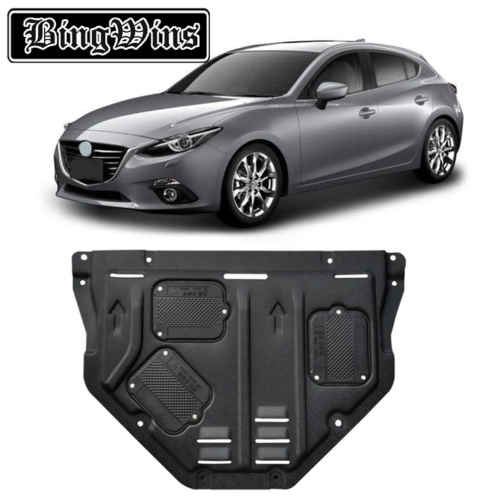 BINGWINS Car styling For <font><b>Mazda</b></font> <font><b>3</b></font> Axela plastic steel <font><b>engine</b></font> guard For Axela 2014-2017 <font><b>Engine</b></font> skid plate fender 1pc image