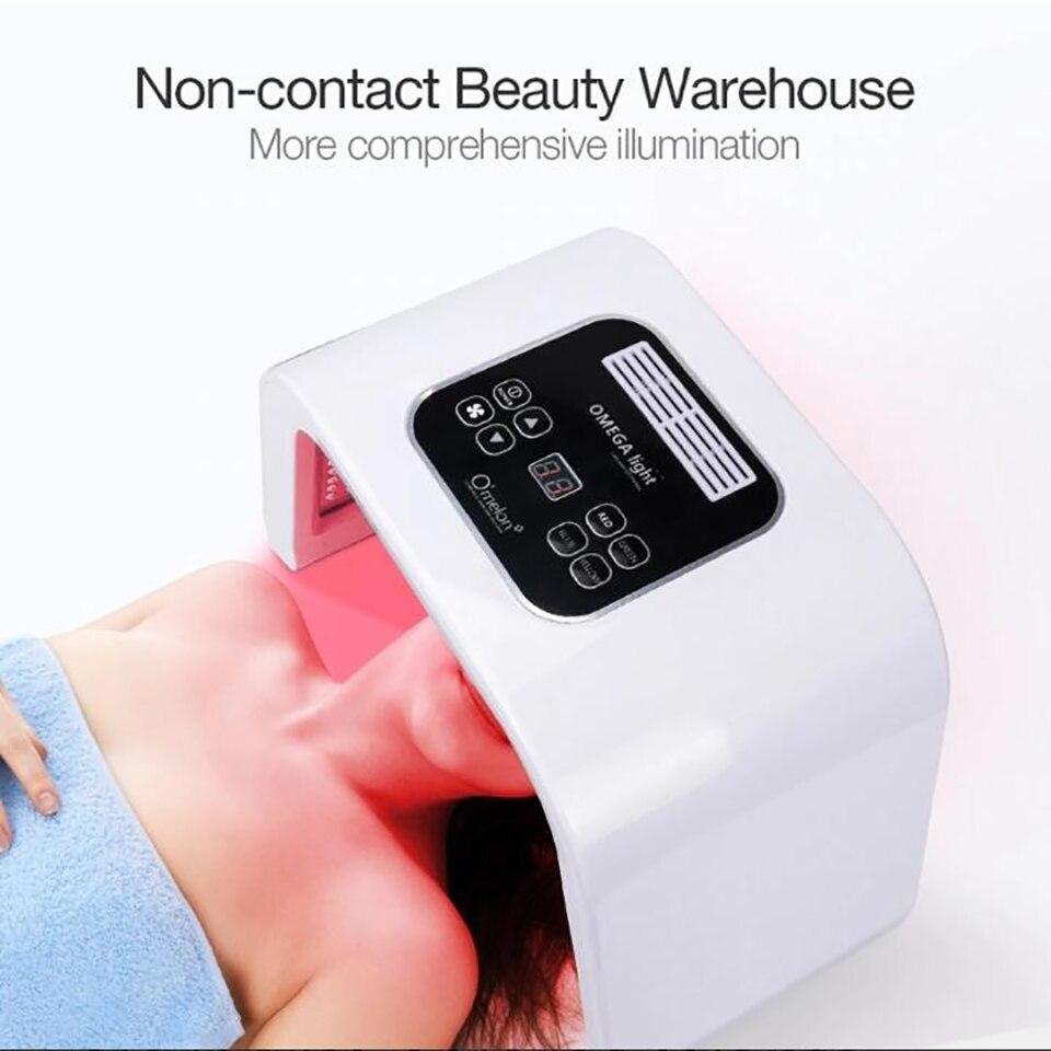Machine de masque Facial de lumière LED 7 couleurs traitement de l'acné traitement de la peau blanchissant la thérapie de lumière de rajeunissement de peau