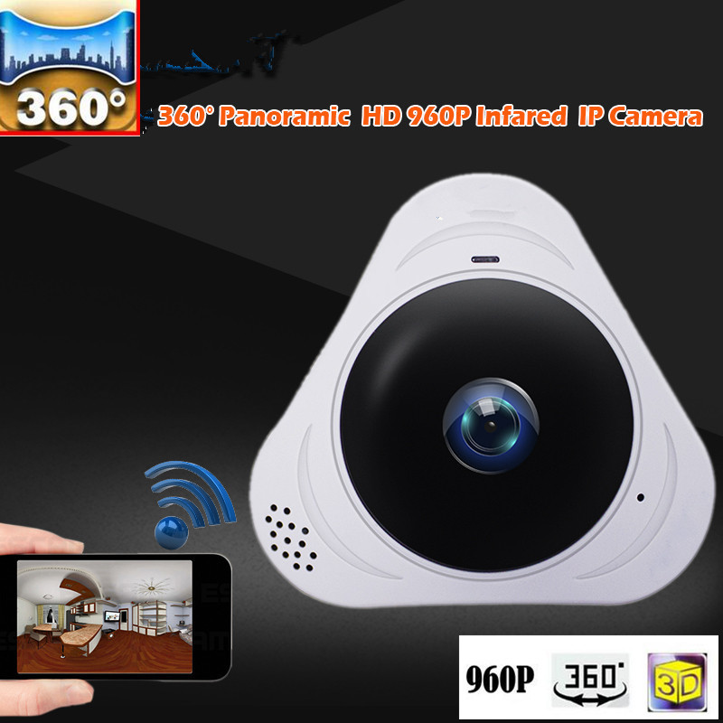 1280*960 360 Degree Fisheye Panoramic Camera HD Wireless VR Panorama HD IP camera P2P Indoor Cam Security WiFi Camera erasmart hd 960p p2p network wireless 360 panoramic fisheye digital zoom camera white