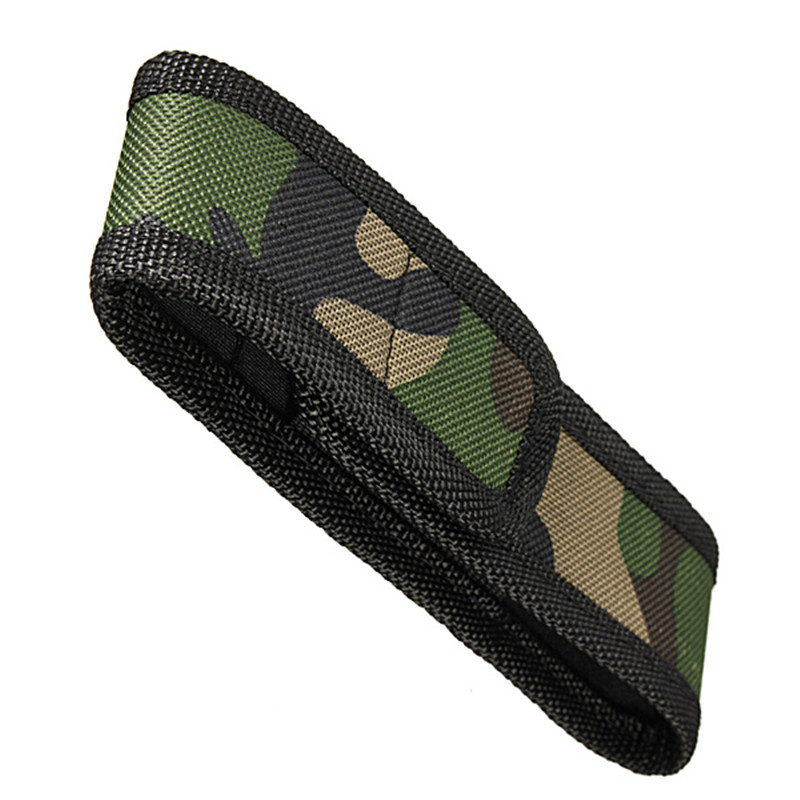16cm Waterproof Camouflage Holster Holder Case Cover Belt Pouch Protector For Most 18650 LED Flashlight Torch