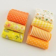 Полоски из хлопковой ткани желтые тематические наборы 5 см х 100 см 7 шт./лот желе ролл для шитья игрушек тильдас лоскутное шитье ремесла