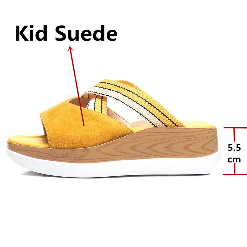 FEDONAS ฤดูร้อนแฟชั่นหนังนิ่มผู้หญิงรองเท้าแตะสบายๆสบายๆรองเท้าผู้หญิงรอบ Toe รองเท้าสตรี 2019 รองเท้าแตะใหม่-ใน รองเท้าส้นสูง จาก รองเท้า บน   3