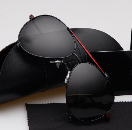 UV400 Protection Sunglasses Outdoor Man Driving Fishing Eyewear Alloy Frame - title=