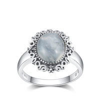 PJC Natural Gemstone 10*12mm Moonstone Rings Twilight Fine Jewelry Bella Same 925 Silver For Women Gifts