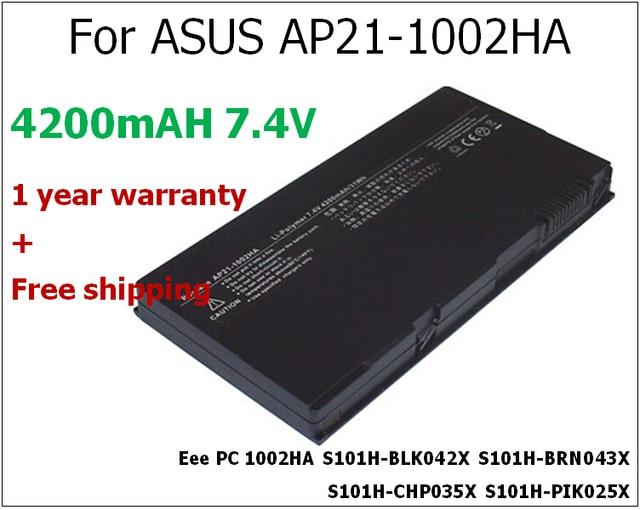 Аккумуляторная батарея 4200 mАч для ноутбука ASUS AP21-1002HA Eee PC 1002HA S101H-BLK042X S101H-BRN043X S101H-CHP035X S101H-PIK025X S101H