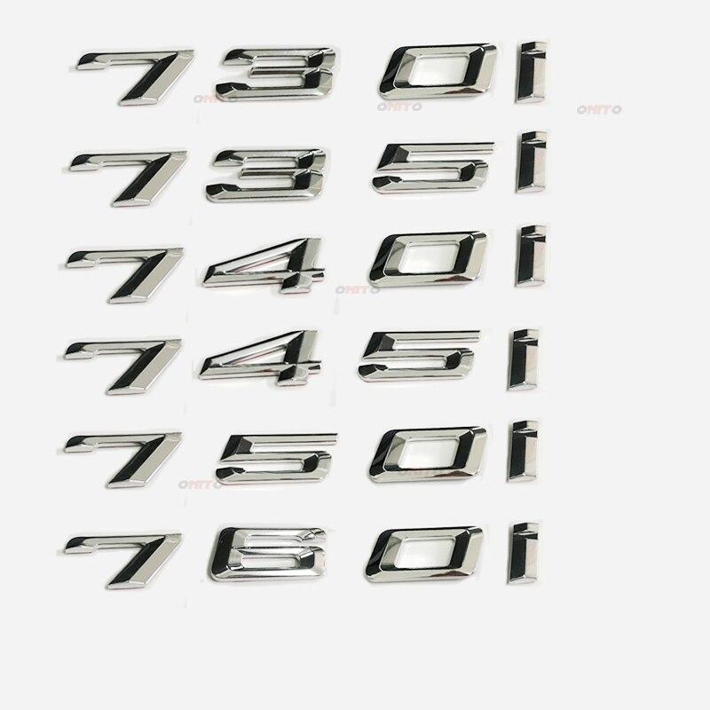 730i 735i 745i 740i 750i Emblem Badge Decal Rear Trunk Lid