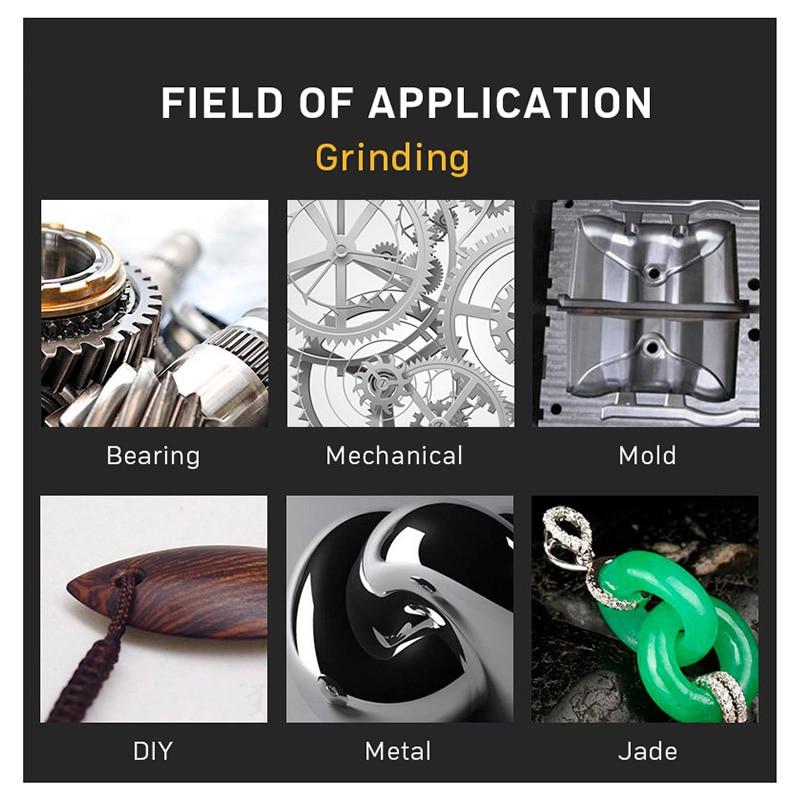 100 vnt / komplektas Gręžimo šlifavimo galvutės įrankis, - Abrazyviniai įrankiai - Nuotrauka 4