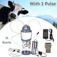 3L Single Head Electric Impulse Milk Milking Machine Portable Sheep Goat Milker Portable 110V 220V 0.8 Gal Vacuum Pump