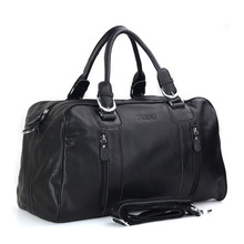 Ali Victory large capacity business casual genuine leather travel bags carry on luggage handbag men's shoudler bags items TB77