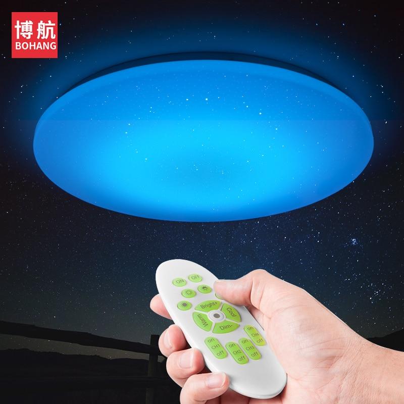 2018 NOUVEAU Moderne LED Plafonnier 25 w Smart Télécommande RGB Dimmable Changement de Couleur Lampe Pour Salon Chambre AC165-265V