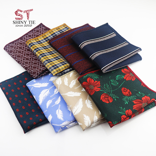2018 New Style Handsome Pocket Square 24 24cm Mens Floral Polyester