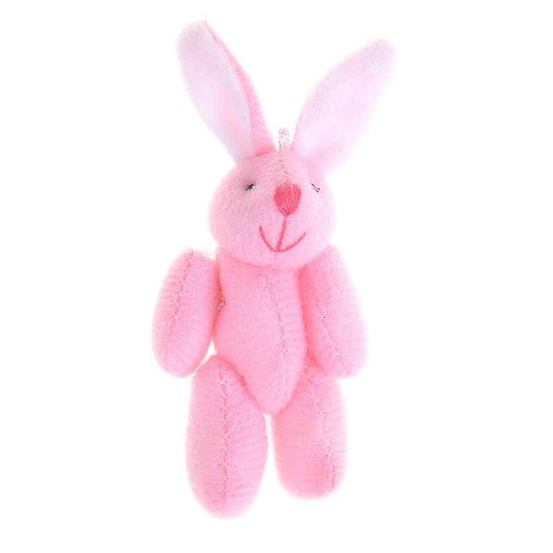 2019 Hot 3 Cores 6 centímetros Mini Conjunto Coelho Macio Coelho de Brinquedo de Pelúcia Boneca Pingente Para Chaveiro DIY Ornamentos Presente Para As Mulheres Meninas
