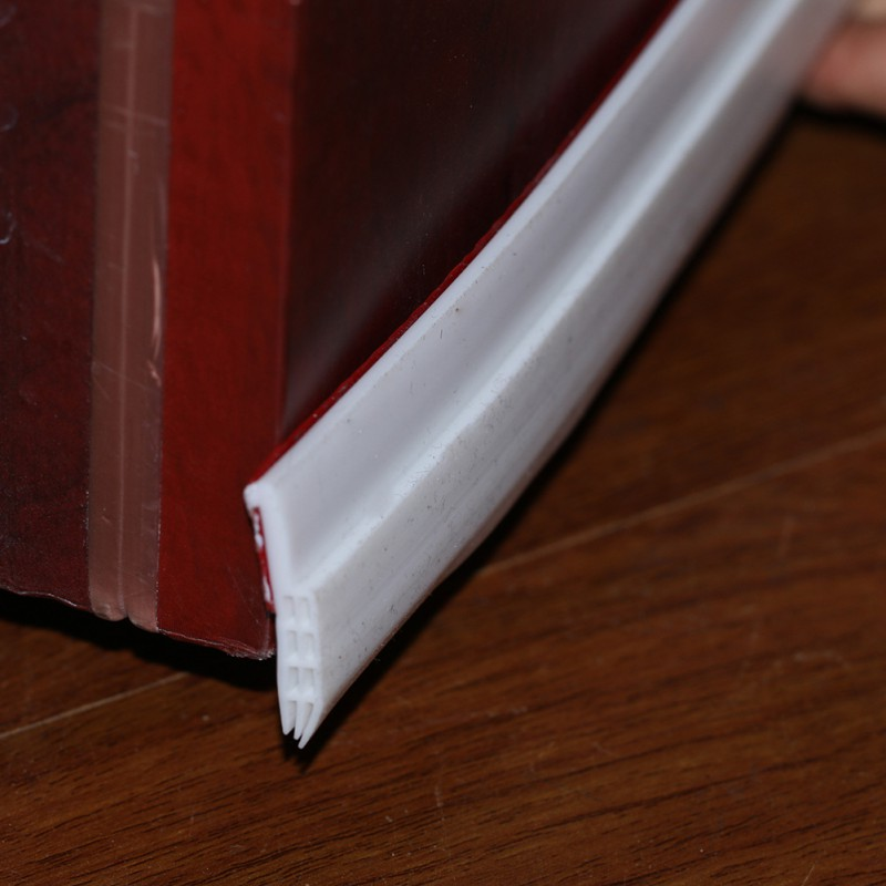 1 M/pcs Silica Gel Selbst-adhesive Türen Abdichtung Streifen Unter Tür Sweep Wetter Strippen Tür Boden Dichtung Entwurf Stopper Weiß Hoher Standard In QualitäT Und Hygiene