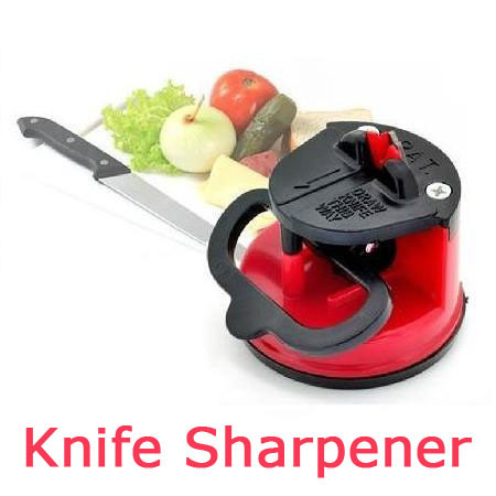 Newest Practical Home Kitchen Knife Sharpener with suction PAD Tungsten Carbide steel blade safe and easy
