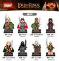 8 unids/lote X0142 Super Heroes el Señor de los Anillos Hobbit Aragorn Minifigs Eomer Theoden Uruk-Hais Eowyn Wraith Mordor orco Juguetes de Los Niños