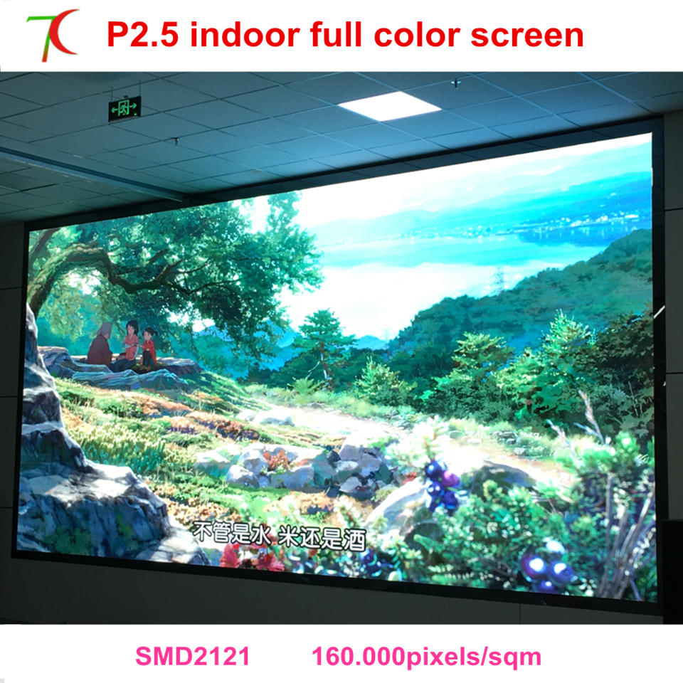 Customizable By Your Screen Size P2.5 Indoor Full Color Led Screen,2000cd,160.000pixels High Resolutions