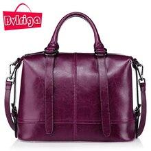 BVLRIGA Luxus-handtaschenfrauen-designer Echte Lederne Beutel Handtaschen Frauen Berühmte Marken crossbody-tasche für frauen Boston Tasche