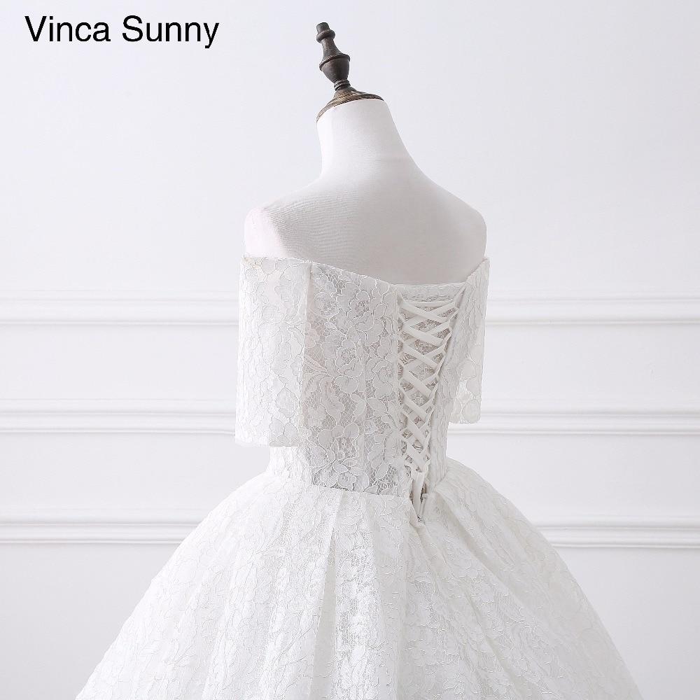2019 2018 robes de mariée en dentelle Simple blanc/ivoire Stock grande taille robes de mariée de plage Vestidos de Novia 2017 élégant 28410 - 6