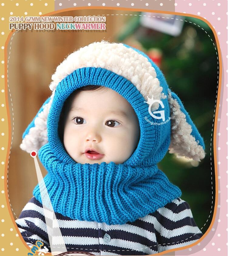 Encantadora del bebé del ganchillo Gorro patrón del perrito del bebé ...