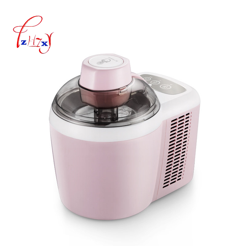 Home use diy ice cream machine 600ML DIY fruit ice cream maker 600ML ice cream machine ICM-700A-1 220V 90W 1PC free shiping fried ice cream machine 75 35cm big pan with 5 buckets fried ice machine r22 ice pan machine ice cream machine