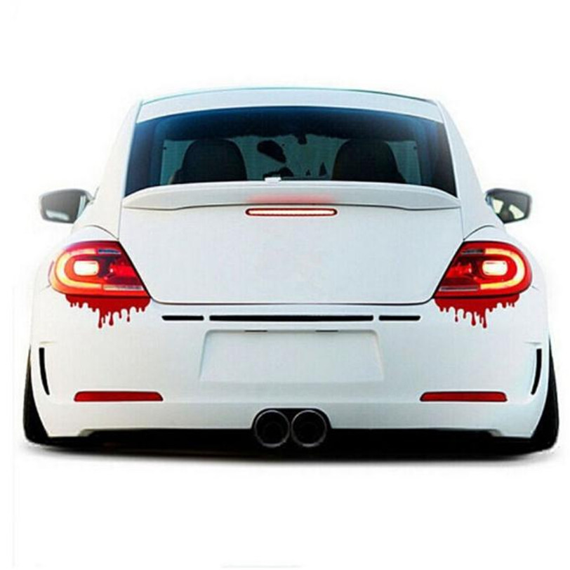1PC Universal Red Blood Car Stickers Reflective Auto Decals Light Bumper Body JDM Sticker for Graffiti Car Covers Skateboard universal pu leather car seat covers for toyota corolla camry rav4 auris prius yalis avensis suv auto accessories car sticks