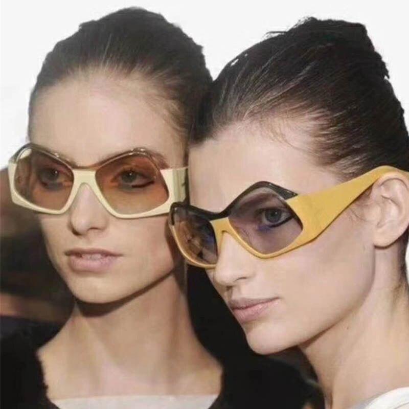 LongKeeper Irregular Vintage Diamond Sunglasses Women Steampunk Brand Sunglass Men Retro Square UV400 Eyewear Gafas Feminino