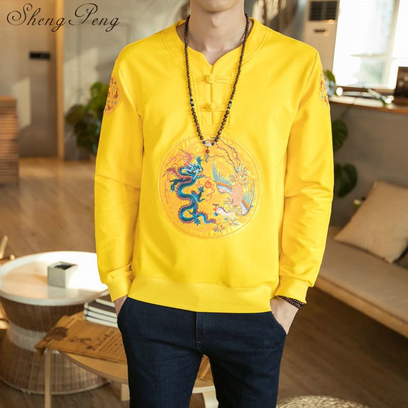 Vêtements chinois traditionnels vêtements pour hommes orientaux dragon chinois top tang costume traditionnel chinois vêtements pour hommes CC254