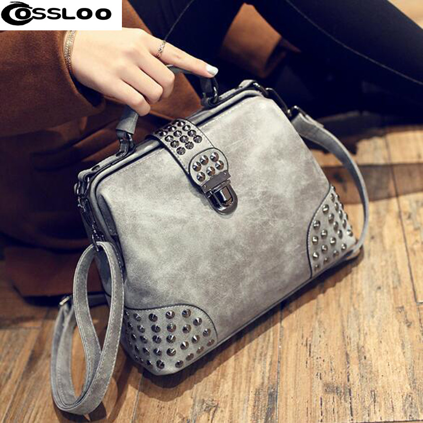 COSSLOO bolsa feminina New Design Women Messenger Bags Vintage PU Leather Handbag  Tote Shoulder Bag luxury handbags women bags women cute pattern small shoulder bag crossbody messenger fashion bags new design pu leather shoulder bags bolsa feminina