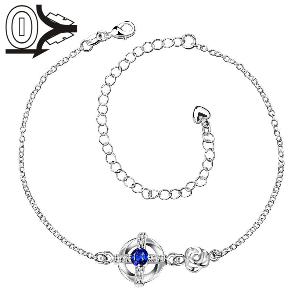 A002-A Free Shipping New Design Large Stock Delicate Handmade Cheap Silver Plated Anklet Ladies Feet Chain Bracelets Bulk Sale