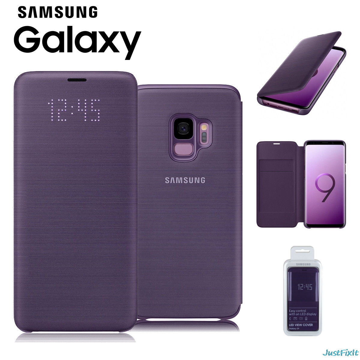 new styles db6e2 94449 US $55.81 5% OFF|LED Smart Leather Case For Samsung Galaxy S9 S9 + S9 Plus  G960 G965 LED Smart VIEW Cover Wallet Flip Case Smart Leather Case-in Flip  ...
