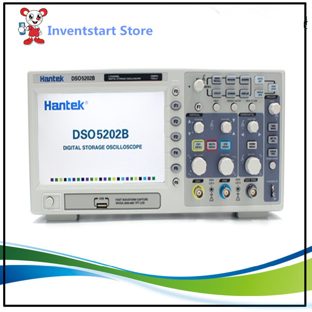 Hantek DSO5202B Osciloscopio Digital 2 Channels 200Mhz Benchtop LCD USB Oscilloscopes 1GSa/s Real Time Sample Rate