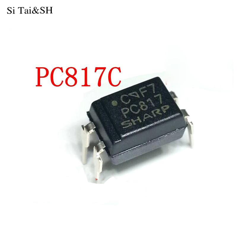 10pcs SHARP PC817 PC 817 SOP-4 SMD Optocoupler NEW