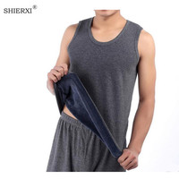 2017 Winter Velvet Thickening Men S Cotton Vest Youth Warm Bodybuilding Tight Wool Vest Male Fitness