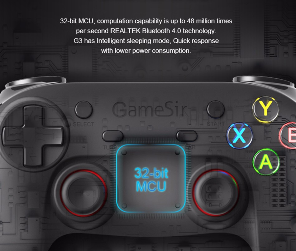 GameSir G3s Gamepad for PS3 Controller Bluetooth&2.4GHz snes nes N64 Joystick PC for Samsung Gear VR Box for SONY Playstation 32