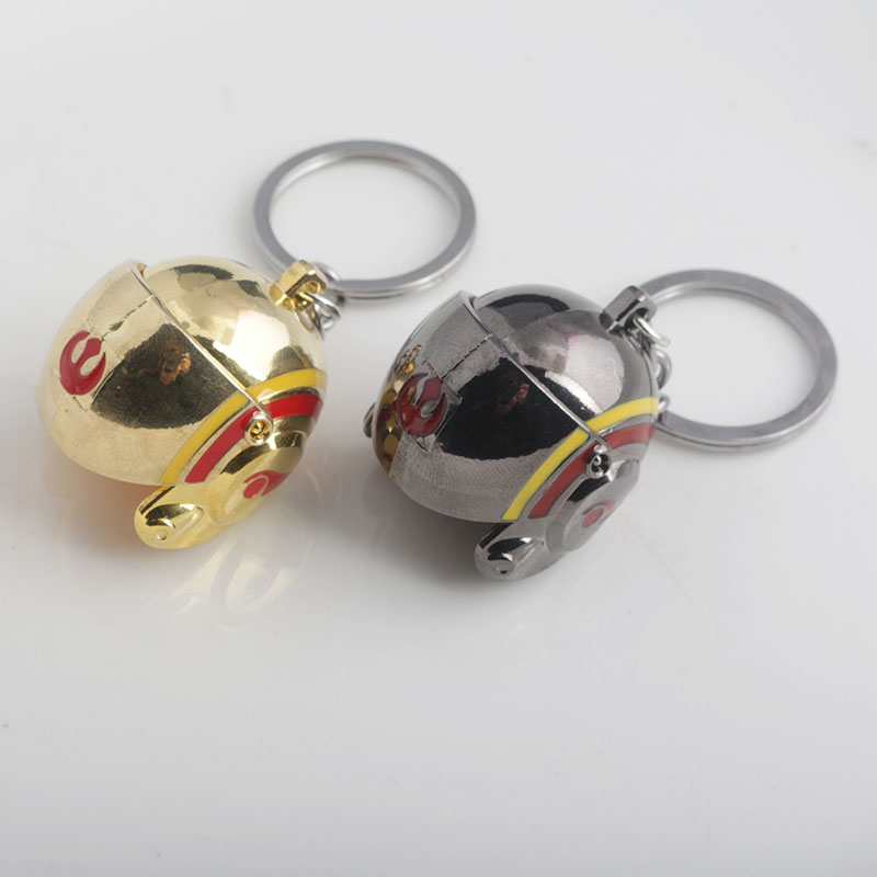 M2 Star Wars 3D Color Helmet Keychain Open and Close Metal Helmet Men and Women Pendant Keychain Game Fans Gifts