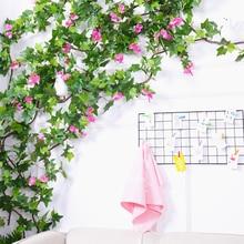vine decoration artificial Hanging Plant fake Green Plants Leaves boston ivy rattan tree branch Foliage home wedding decor