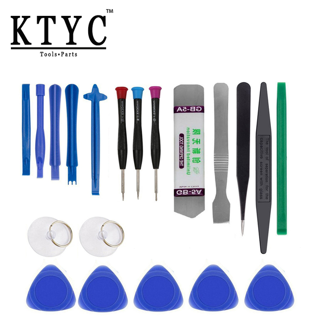 KTYC 20 in 1 Mobile Phone Repair Tools Kit Pry Opening Tool Screwdriver Set for iPhone iPad Samsung Cell Phone computer Tools