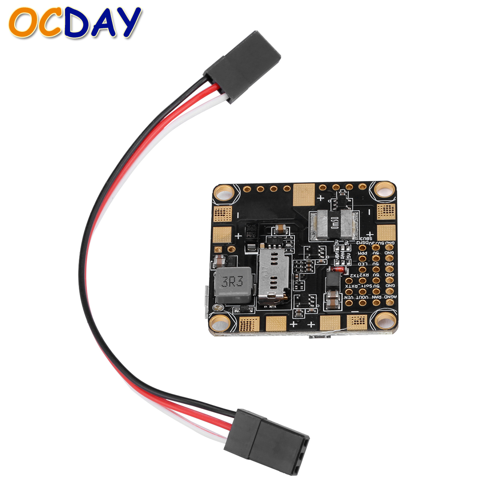 1pcs Ocday Betaflight F3 Processor Integrated OSD Flight Controller Built-in 3A 5V BEC for FPV Racing Drone QAV Quadcopter micro minimosd minim osd mini osd w kv team mod for racing f3 naze32 flight controller
