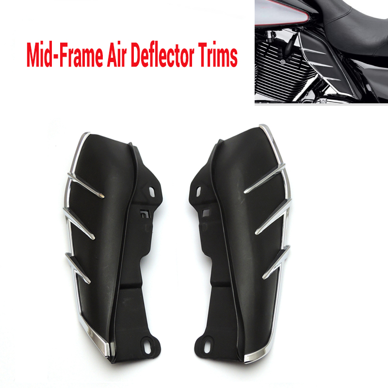 ФОТО  Air Deflector Trims for CVO Limited Ultra Limited Road King Electra Glide Street Electra Tri Glide FLHX 2009-2016