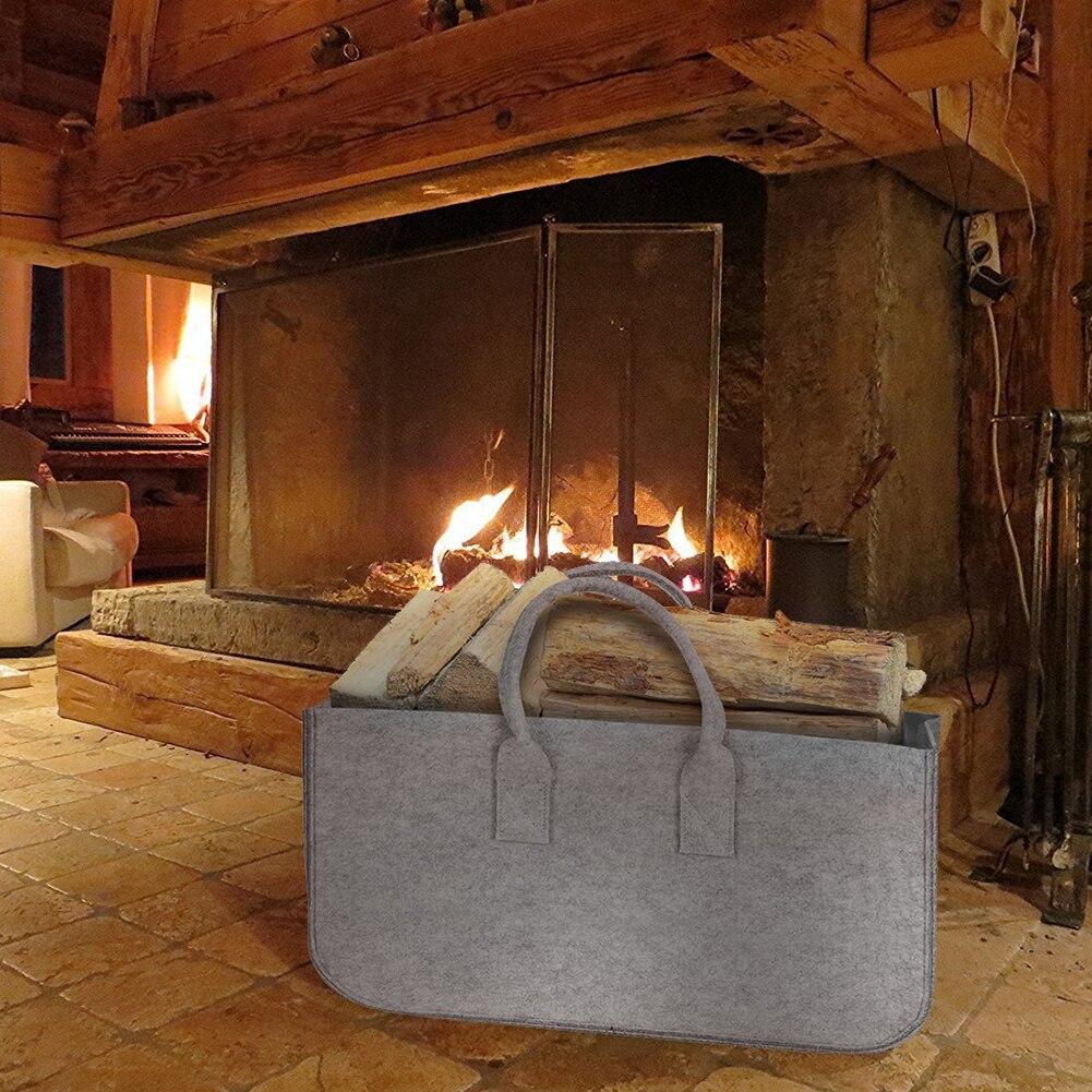Газетные киоски журнала большой ёмкость фетр сумка Корзина для дров карман дерево хозяйственная сумка держатель для хранения