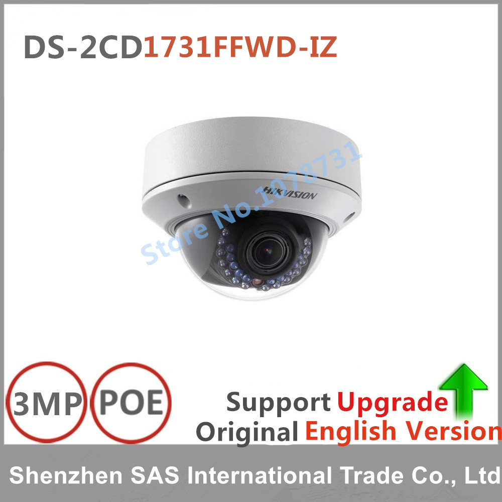 Hikvision English version DS-2CD1731FWD-IZ replace DS-2CD2735F-IS 3MP dome IP Camera POE cctv camera varifocal lens 2.8-12mm