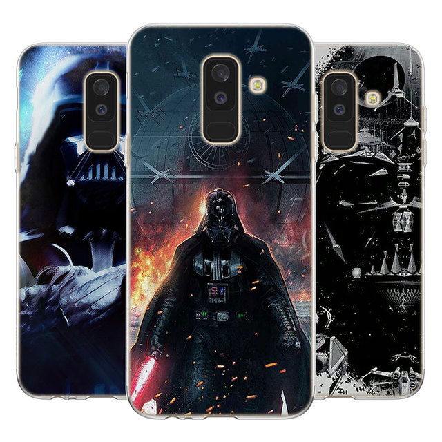 Darth Vader Star Wars pattern Soft TPU Silicone clear frame back Phone Case for Galaxy A6 A6+ A8 2018 A8+ A3 A5 A7 2017