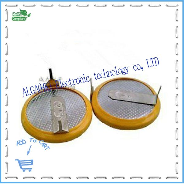 CR2032 solder pin battery 3V battery with pin with pin horizontal diameter 20M and Free Shipping