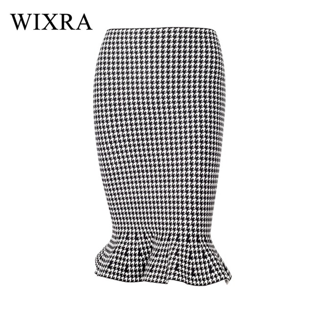 Wixra Warm and Charm 2017 New Fashion Bandage Skirts Knee Length Rayon  Stretchy Mermaid Skirts Sexy Bodycon Summer Women Skirt