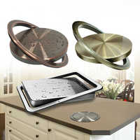 Stainless Steel Flush Recessed Built-in Balance Flap Lid Cover Trash Bin Garbage Can Kitchen Counter Top