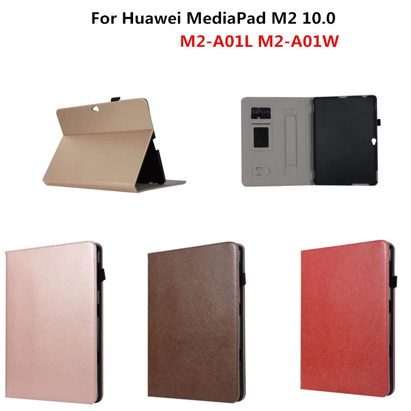 цена Case For Huawei MediaPad M2 10.0 Business cover PU Leather Protective Tablet For HUAWEI MediaPad M2-A01L M2-A01w Handheld Case