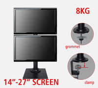 DL TLD A1 14 27 height adjustable 8kg clamp base grommet hole base double lcd monitor desktop stand dual screen mount bracket