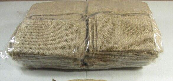 50 pcs Natural Burlap Hessian Drawstring Bag Mini Burlap Bags with ...