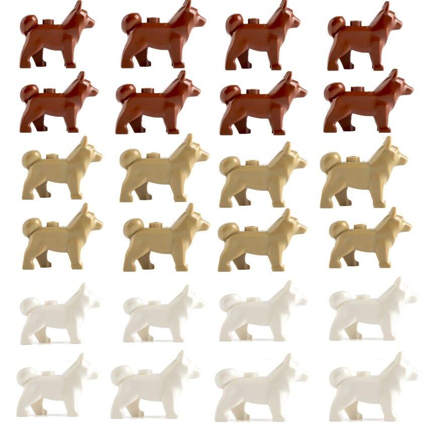 5 шт./лот креативные фигурки полицейских собак фигурки MOC аксессуары часть Хаски строительные блоки модели игрушки для детей